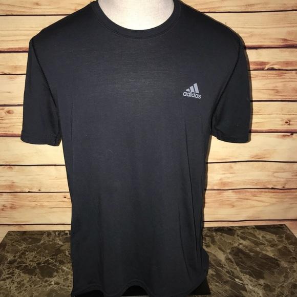 Adidas Prestazioni Tee Wgray Logo Poshmark Camicie Nere